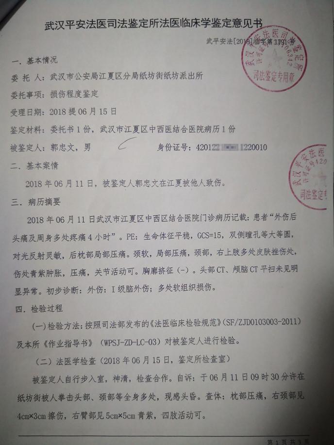 (转载)武汉市江夏区村官变村霸,打人致伤何时休?